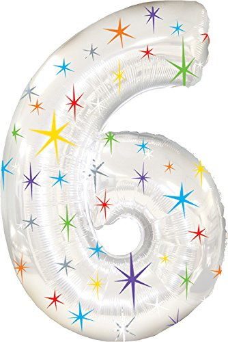 Creative Converting Balloons Number Silver