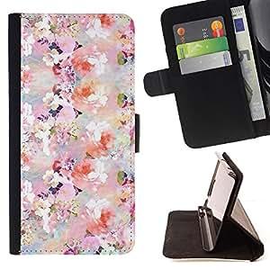 - Queen Pattern FOR LG Nexus 5 D820 D821 /La identificaci????n del cr????dito ranuras para tarjetas tir????n de la caja Cartera de cuero cubie - floral pattern flowers spring whit