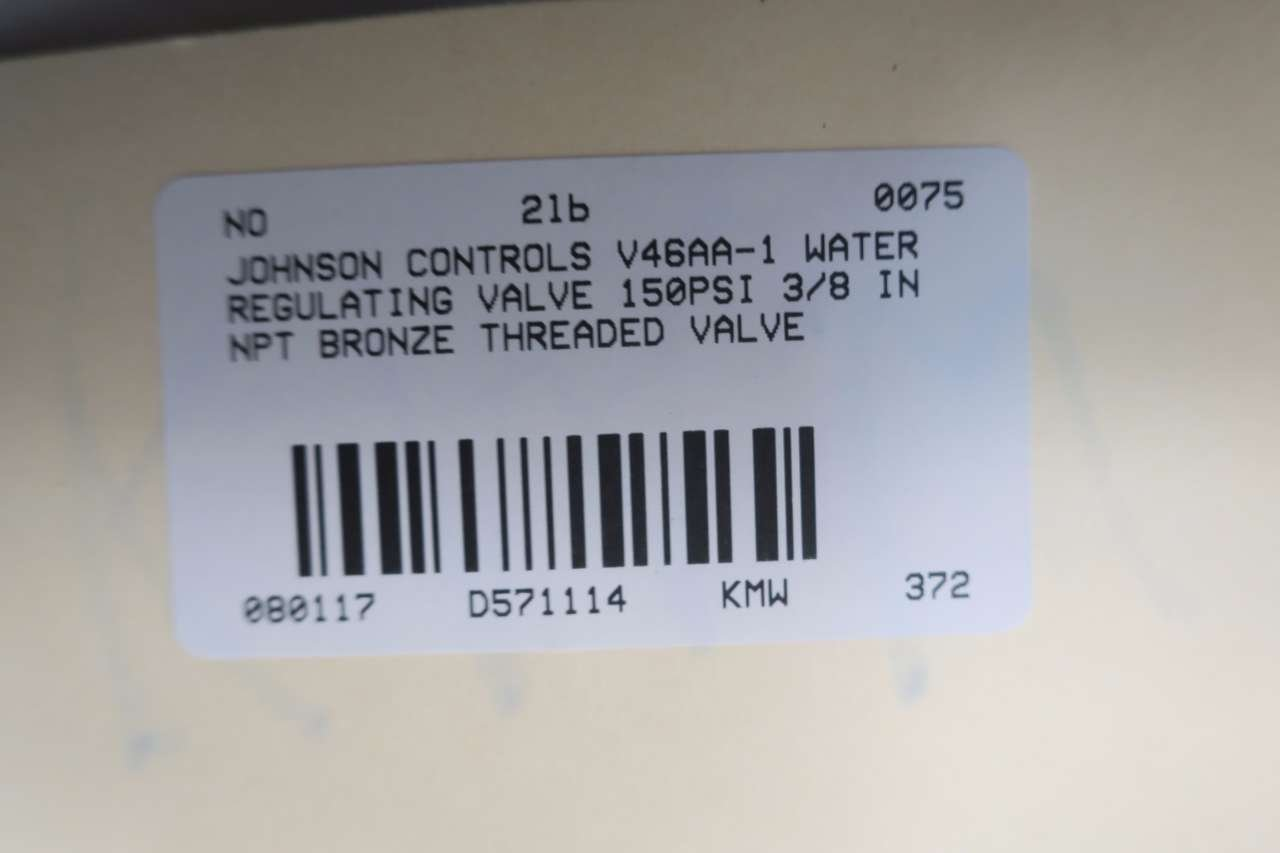 JOHNSON CONTROLS V46AA-1 WATER REGULATING VALVE 150PSI 3/8 IN NPT D571114 by Johnson Controls (Image #6)