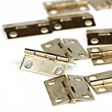 Foxnovo Mini Cabinet Hinges Connectors - 30pcs (Golden)