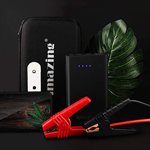 Imazing Car Jump Starter 1000A Peak 8000mAh with Type-C Port(Up to 7.0L Gas or 5.5L Diesel Engine), 12V Portable Power Pack Auto Battery Booster with LCD Display Jumper Cables, QC 3.0 and LED Light by Imazing (Image #7)