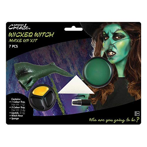 Ladies Wicked Witch Make Up Face Paint Kit