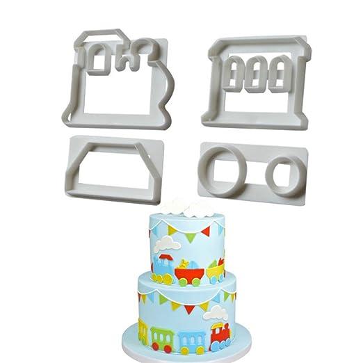 Zucker Craft Fondant Ausstecher Zug Set Kunststoff Kuchen Form