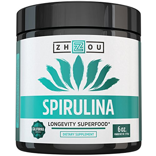 Non-GMO Spirulina Powder - Sustainably Grown in California - Highest Quality Spirulina (16 Ounce Grams)