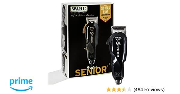 Amazon.com  Wahl Professional 5-Star Series Senior Clipper  8545 – Great  for Professional Stylists and Barbers – V9000 Electromagnetic Motor – Black  ... 894b0eee5a