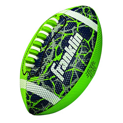 Mini Football - Franklin Sports Mini Football - Tacky Grip Cover - Easy Throw Spiral Lace System - Little Kids Indoor/Outdoor Football - Lime/Navy