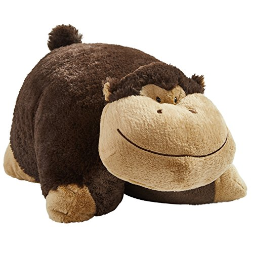 14 Monkey Plush - Pillow Pets My My Silly Monkey - Large, Brown,; 18