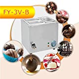 Commerical Three-cylinder Electric Chocolate Fountain Fondue Hot Chocolate Melt Pot Melter Machine (110V)