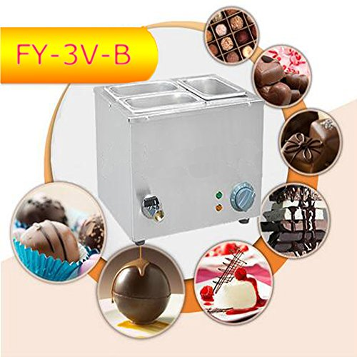 Commerical Three-cylinder Electric Chocolate Fountain Fondue Hot Chocolate Melt Pot Melter Machine (110V) by Hanchen Instrument® (Image #8)