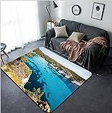 Vanfan Design Home Decorative 114611134 Cala Macarella - Cala Macarelleta - Menorca - Balearic islands - Spain Modern Non-Slip Doormats Carpet for Living Dining Room Bedroom Hallway Office Easy Clean