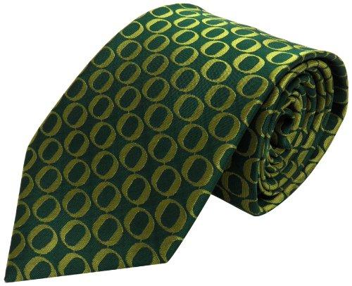 NCAA Men's Oregon Ducks Repeating Primary Necktie, Green/Yellow