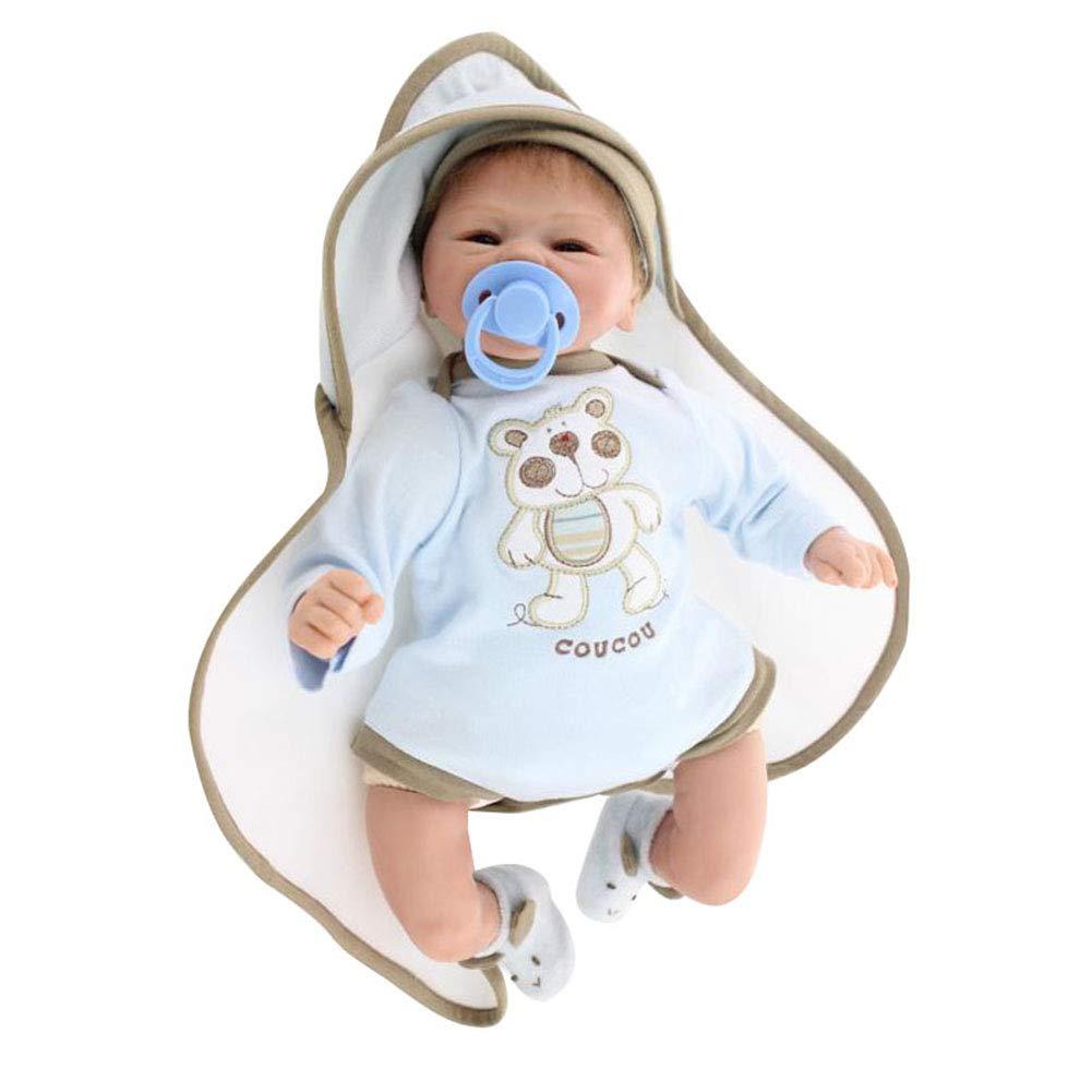 0Miaxudh Reborn-Puppe, 42cm Reborn-Babypuppe, lebensechtes Vinylsilikon-Kinderschlafen begleitet Spielzeug Blau B07P81JGMC Babypuppen Professionelles Design  | Gutes Design