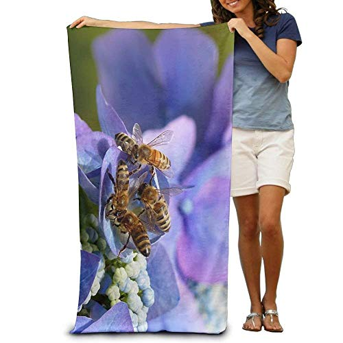 Bath Towel Microfiber BAGT, Promotional Insect Bees Oversized Beach Towel Pool Towel,Swim Towels for Bathroom,Gym,and Pool 31x51 ()
