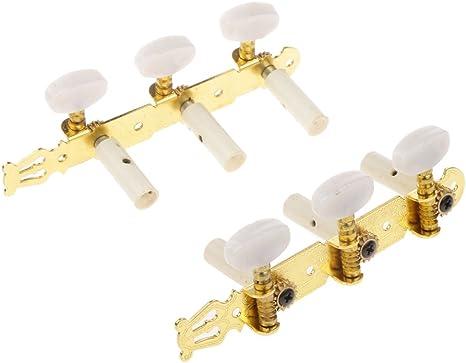 Accesorios para Guitarra Clásica Clavijas de Afinación Tablón de Oro Grabado Sintonía Perillas Ronda: Amazon.es: Instrumentos musicales