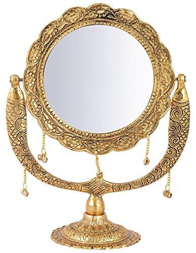 RAJKRUTI METAL FRAMED DECORATIVE VANITY TABLE TOP CHEVAL (Framed Cheval Mirror)
