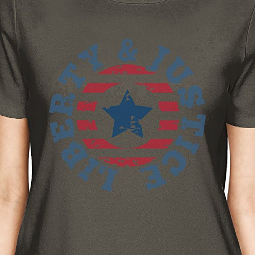 Size Printing Liberty 365 Camiseta One corta manga para mujer Justice de 87Ca7dxw