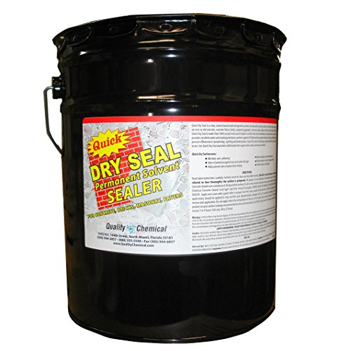 Quick Dry Seal - Solvent Based Acrylic Wet Look Concrete Sealer and Paver Sealer-5 gallon pail (Pail Sealer)