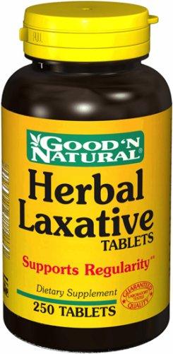 Laxante herbal - 250 tabs,(Good'n Natural)