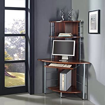 Fabulous Pc Desk Brown Home Office Essential New Compact Corner Computer Largest Home Design Picture Inspirations Pitcheantrous