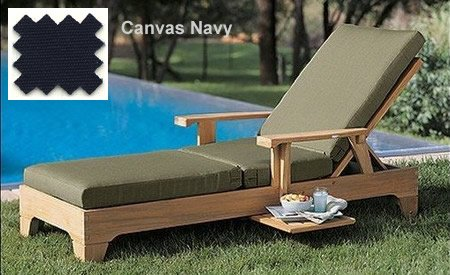 (WholesaleTeak New Chaise Lounger Sunbrella Fabric Outdoor Cushion (Chaise Lounger not Included) Choose Any Sunbrella Fabric)