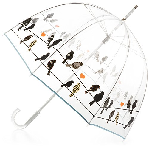 totes Signature Bubble Umbrella - Manual Open, One Size - Birds on a Wire