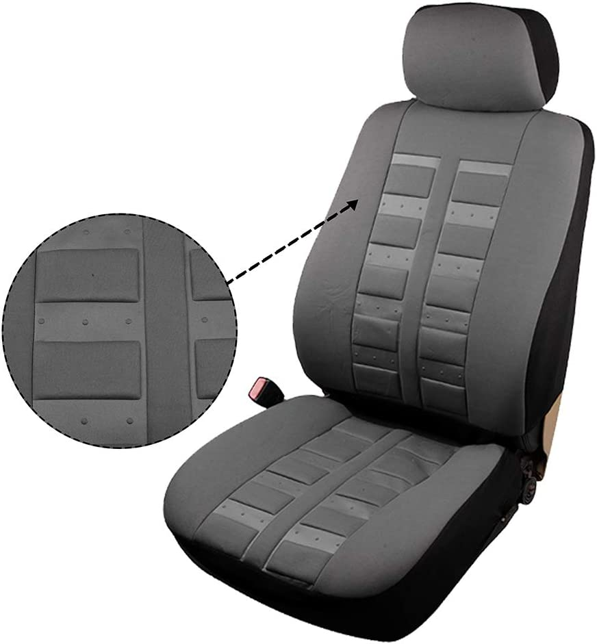 OCPTY Car Seat Cover Gray Stretchy Universal Seat Cushion w//Headrest Cover 100/% Breathable Automotive Accessories Durable Polyester for Most Cars