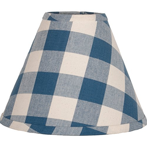 "Home Collections by Raghu 10"" Colonial Blue & Buttermilk Checkered Lamp Shade"