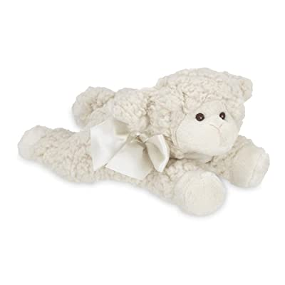 Bearington Baby Baa Plush Stuffed Animal Lamb with Rattle, 8 inches: Toys & Games