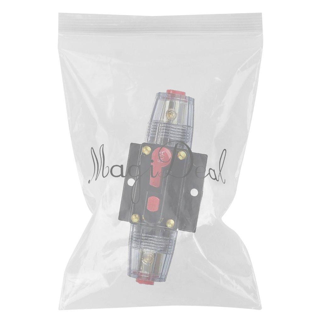 MagiDeal 12v-24v Dc Sistema Solare Interruttore Impermeabile Invertitore Fusibile Resettato Pulsante 1.57inch 30a