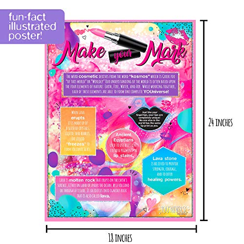 Youniverse Create Your Own Lava Lip Gloss Lab Craft Kit by Horizon Group USA DIY 5 Lip Glosses Mix
