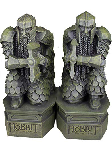 SDBRKYH Hobbit Bookends, Lord of The Rings Sculpture Hobbit Smaug Statue Book Desk Desk Ornaments Jewelry