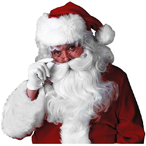 Deluxe Santa Claus Wig & Beard Set Costume Accessory Adult Christmas Fancy Dress