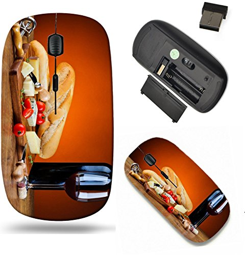 (Liili Wireless Mouse Travel 2.4G Wireless Mice with USB Receiver, Click with 1000 DPI for notebook, pc, laptop, computer, mac book ID: 21524420 still life with traditional dinner cheese and red wine)