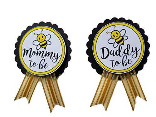 Mommy Pin - Mommy & Daddy to Bee Pins Baby Shower Yellow and Black pin wear at Baby Shower, Baby Sprinkle
