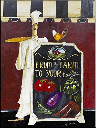Ceramic Tile Mural - Farm to Table- by Jennifer Garant - Kitchen backsplash / Bathroom shower