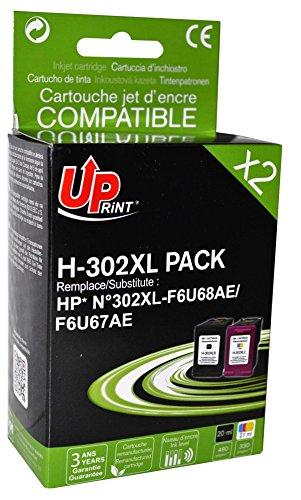 Pack de 2 cartuchos HP F6U68AE/F6U67AE/N ° 302 x l - negro + cian ...