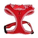 Authentic Puppia Vivien Harness, Red, Large, My Pet Supplies