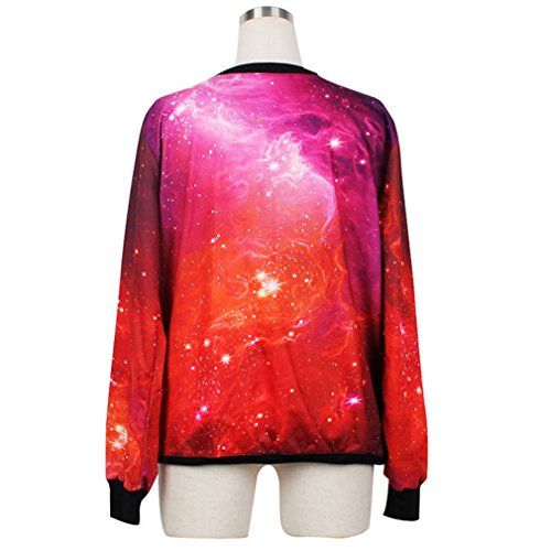 Galaxy Thenice Maniche Lunghe Animalier Felpa Star Stampa Donna Sky qnwq4AZC