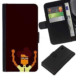 NEECELL GIFT forCITY // Billetera de cuero Caso Cubierta de protección Carcasa / Leather Wallet Case for Sony Xperia Z1 L39 // Nerd Pixel
