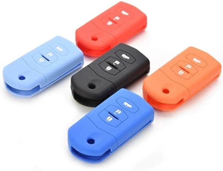 PINK Maite 4 Buttons Silicone Key Fob Cover Remote Cover Case Protector for MAZDA 3 5 6 CX-7 CX-9 RX-8 MX-5 Miata