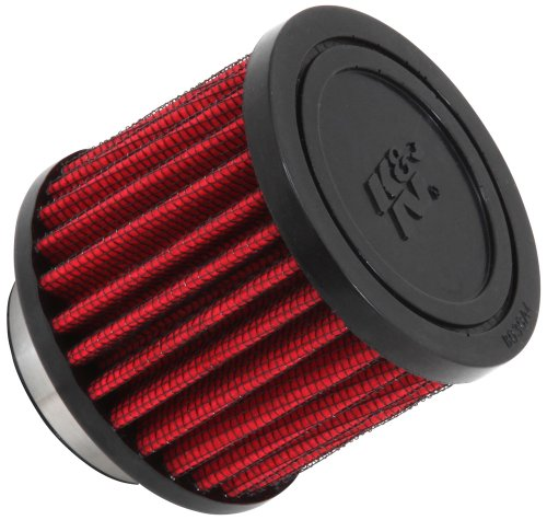 K&N 62-1450 Vent Air Filter / Breather: Vent Air Filter/ Breather; 1.5 in (38 mm) Flange ID; 2.5 in (64 mm) Height; 3 in (76 mm) Base; 3 in (76 mm) (38mm Flange)