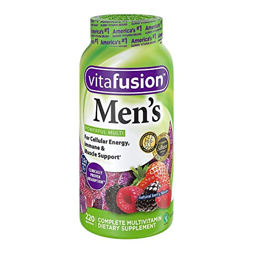 Vitafusion Men s Complete Multivitamin Gummies Natural Berry Flavors – 150 ct, Pack of 2