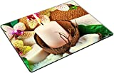 MSD Place Mat Non-Slip Natural Rubber Desk Pads design 25238941 Spa concept with candle coconut orchid towels soap green leaves