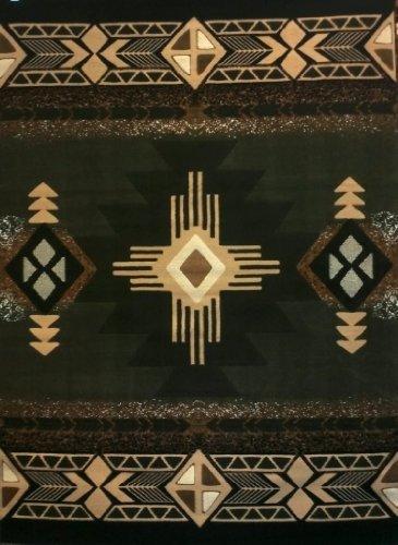 Concord Global Trading Southwest Native American Area Rug Sage Green Design C318 (8 Feet X 10 Feet)