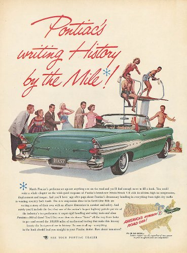 Writing History by the Mile Pontiac convertible ad 1957 ()