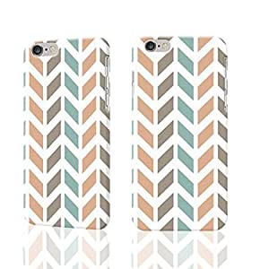 Chevron Arrow Pattern Photo Plastic Hard Customized Personalized 3D Case For iPhone 6 Plus - 5.5 inches by ruishername