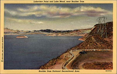 - Lakeview Point and Lake Mead near Boulder Dam Lake Mead, Nevada Original Vintage Postcard