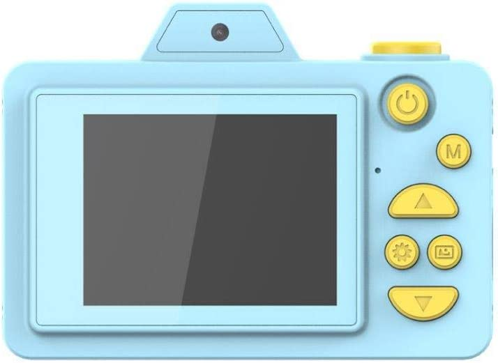 Lightahead Kids Digital Cameras for Girls and Boys Dual Cameras Front and Rear with 2 Inch IPS Screen and Cartoon Silicon Case Great Gift for Kids (16GB TF Card Included) Blue