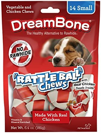 DreamBone RattleBall Small Chews 14 Coun