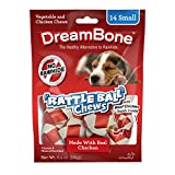 Dreambone Chicken Rattle Ball Dog Chew, Rawhide Chews, Small, 14-Count For Sale